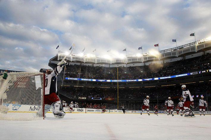 NY Rangers winning at Yankee Stadium 2014