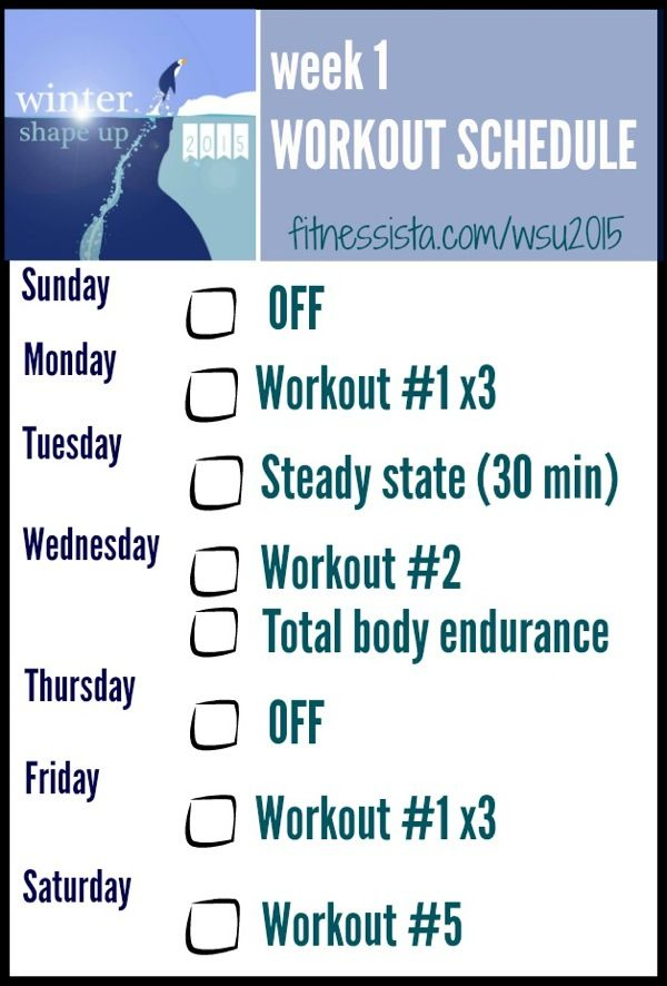 Image result for winter season workout schedule