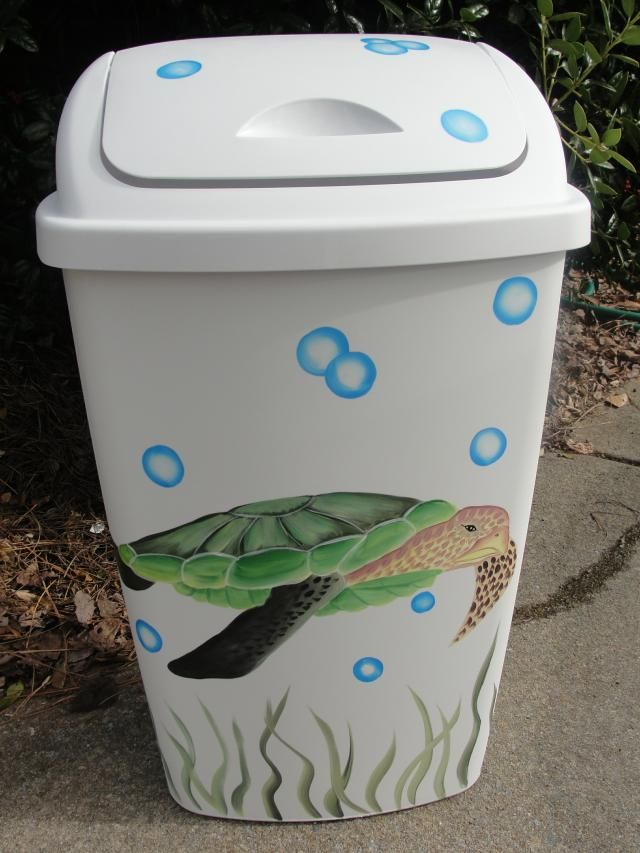 Sea Turtle Trash Can Maybe Do Something Similar With