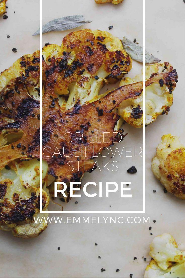 best cauliflower steak recipe, emmelyn croes, marinated cauliflower steaks recipe,  grilled cauliflower steaks, Vegan cauliflower steak recipe