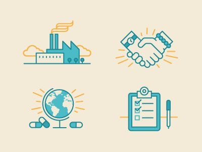 Dribbble - Manufacturing Icons by Andrew Zelman