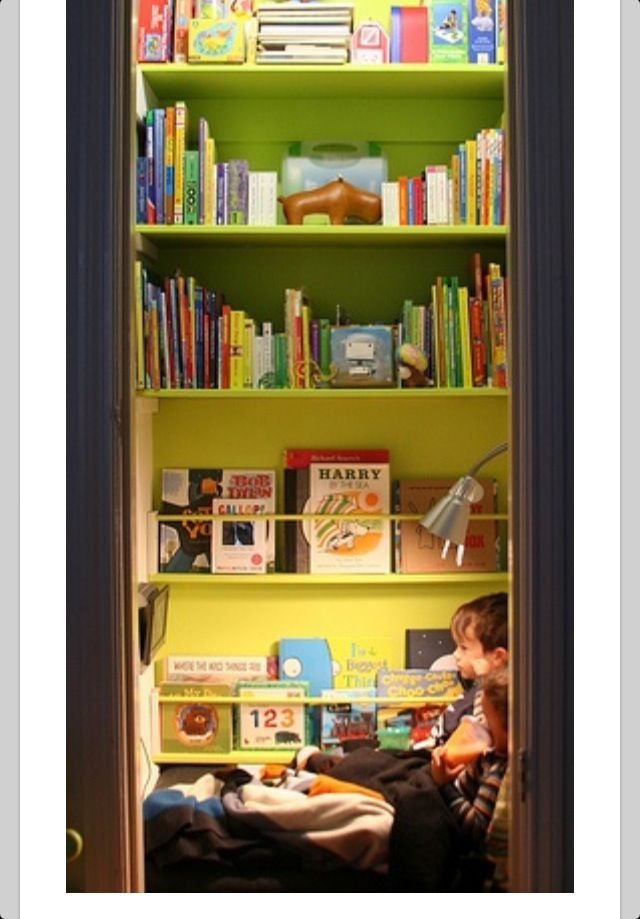 Turn Your Closet Into A Library Home Pinterest