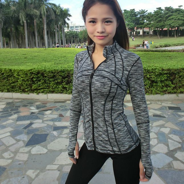 Womens Stand Collar Sports Coats Bodycon Athletic Outdoor Jackets Fashion E753
