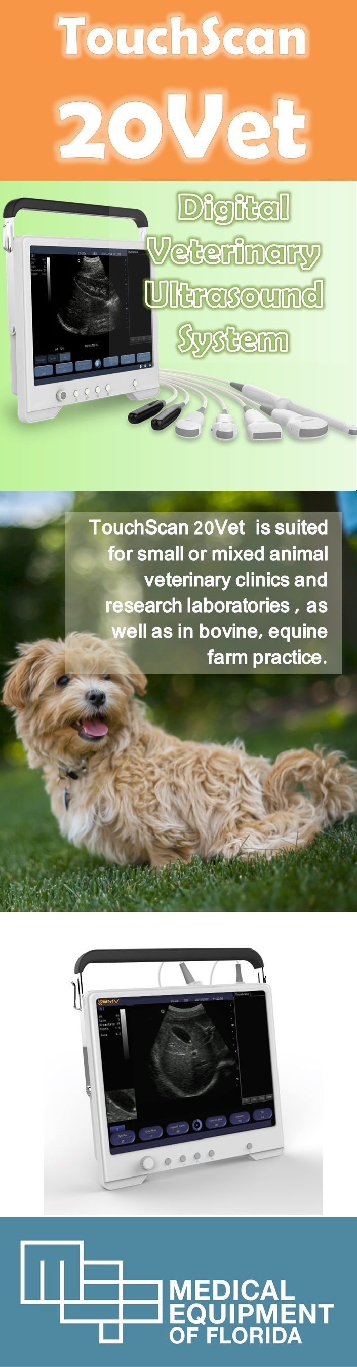 Equipped with highly useful veterinary functions including veterinary information management, body mark, OB table and specialized measurement packages, TS20V is suited for small or mixed animal veterinary clinics and research laboratories as well as in bovine, equine farm practice. Interested? Call us today for pricing!
