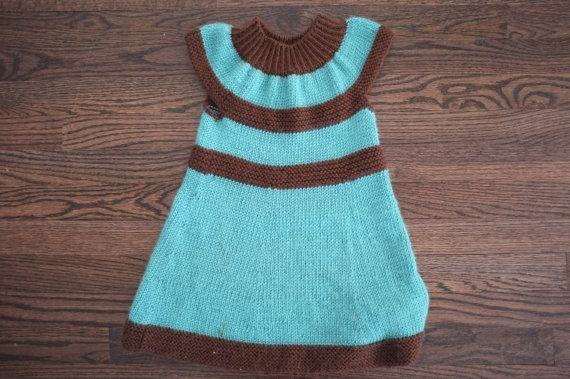 Baby girl knitted dress by Annyaknits on Etsy, $35.00