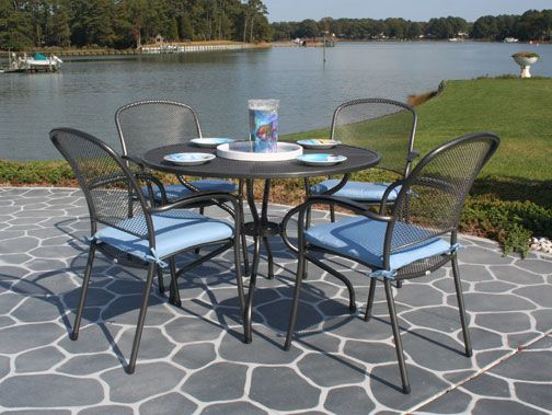 Iron patio furniture at fishels contemporary home for Outdoor furniture portland