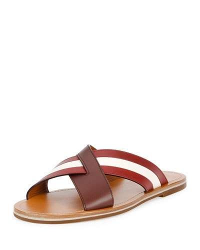 Bally+Crisscross+Strap+Leather+Sandals+Brown+|+Shoes+and+Footwear