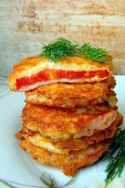 Tomatoes in batter