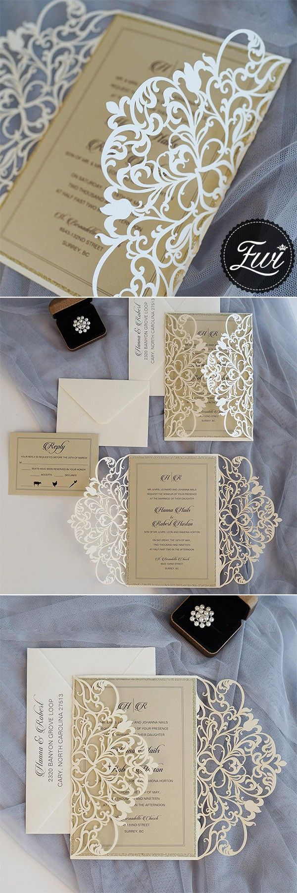 Best 200+ Wedding Invitations images on Pinterest