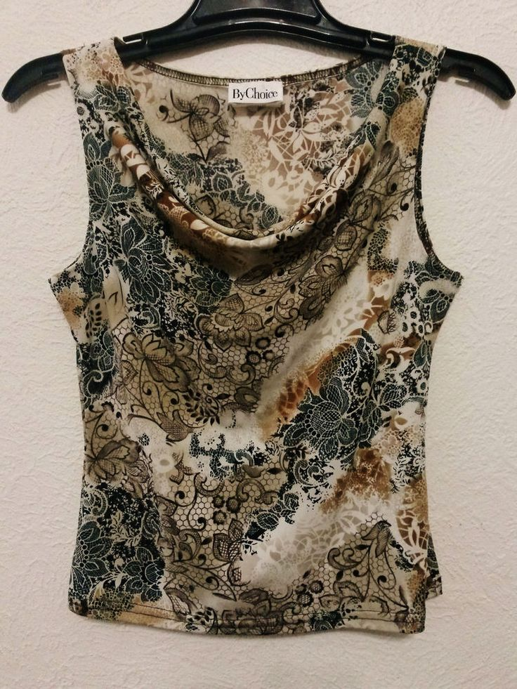 By Choice - Women's Stretch Top Blouse (Size Medium) Cowl Neck & Sleeveless Beige…  ..... Visit all of our online locations ..... (www.stores.eBay.com/variety-on-a-budget) ..... (www.amazon.com/shops/Variety-on-a-Budget) ..... (www.etsy.com/shop/VarietyonaBudget) ..... (www.bonanza.com/booths/VarietyonaBudget ) .....(www.facebook.com/VarietyonaBudgetOnlineShopping)