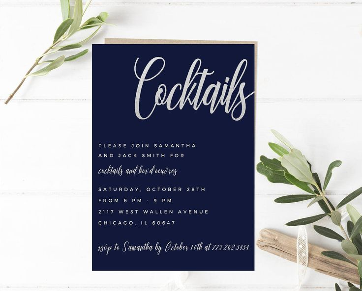 Best 25 Cocktail party invitation ideas – Cocktail Party Invite Template