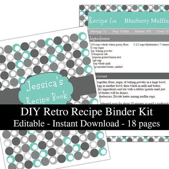 18 best Recipe Book images on Pinterest   Recipe binders, Recipe ...
