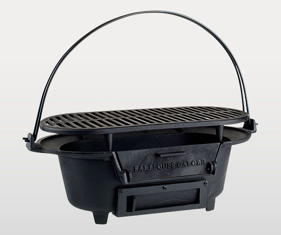 Barbeques Galore Cast Iron Hibachi Charcoal Barbeque