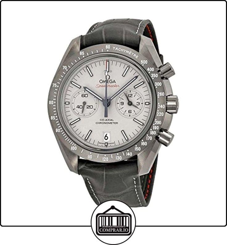 Omega Speedmaster Profesional Gris Side of the Moon Cronógrafo Automático Sandblasted Platinum Dial Gris Cuero 31193445199001-Reloj de hombre  ✿ Relojes para hombre - (Lujo) ✿
