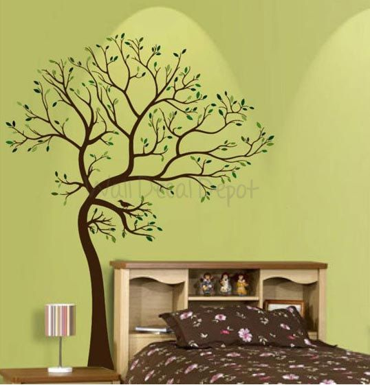 8 best trees for sunshine library images on pinterest for Bird wall mural