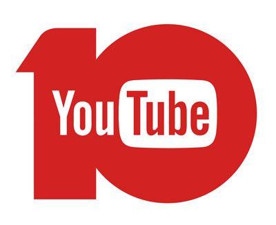 YouTube 10周年ロゴ