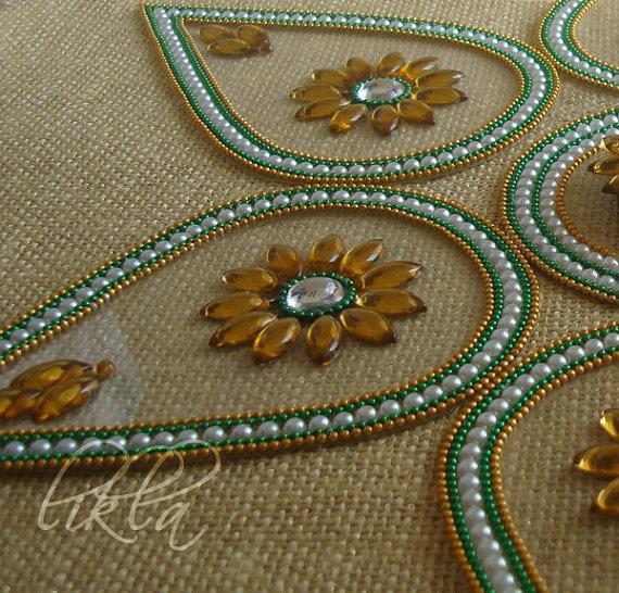 Rangoli Art from India  Diwali Decor  Floor and Table by Likla, $20.00