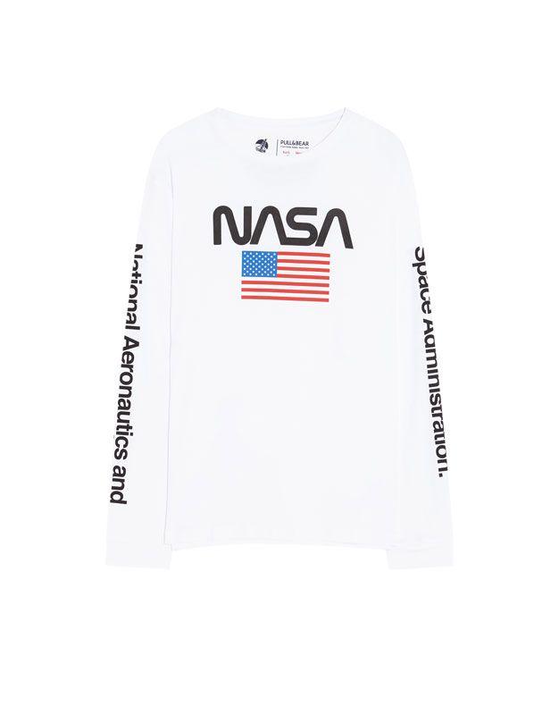 μπλούζα με σημαία και λογότυπο της Nasa Pull Bear 14 99 Gafas Hombre Hombres