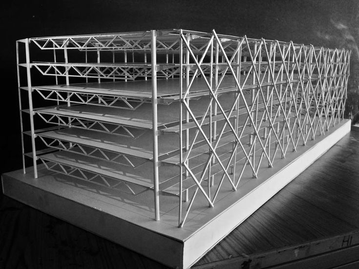 Le Centre Georges Pompidou Centre by Sir Richard Rogers and Renzo Piano Structural study model made by me and my friend.