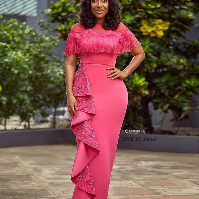 💖💣💖💐 @shebybena - PINK OCTOBER 💞 Dress also available in Red, Orange, Ivory and Gold. 👱🏽♀️ @joselyn_dumas 💄 @lawrebabe_mua 📸 @phloshop #breastcancerawareness || #pinkoctober || #healthadvocacy || #shebybena || #shedoll || #itsamovement - #weloveghanaweddings