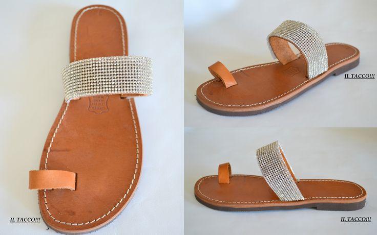 Handmade Leather Greek Sandals, Braids, Strass!!! Il Tacco!!!