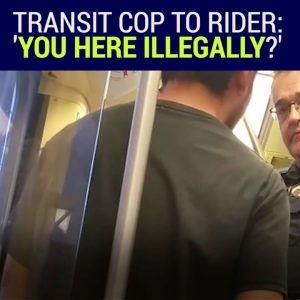 Are you guys authorized to act as immigration police?  A Minneapolis transit officer was caught qu #news #alternativenews