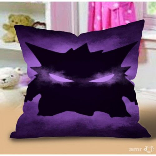 Pokemon Gengar Sinister Pillow Case #Handmade #pillowcase #pillowcover #cushioncase #cushioncover #best #new #trending #rare #hot #cheap #bestselling #bestquality #home #decor #bed #bedding #polyester #fashion #style #elegant #awesome #luxury #custom #supreme