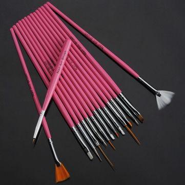 Nail Art Paint Brushes Design Set 15 Pack