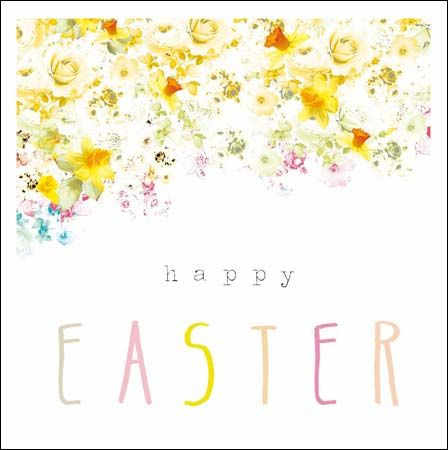Delicious, delicate floral #Easter card