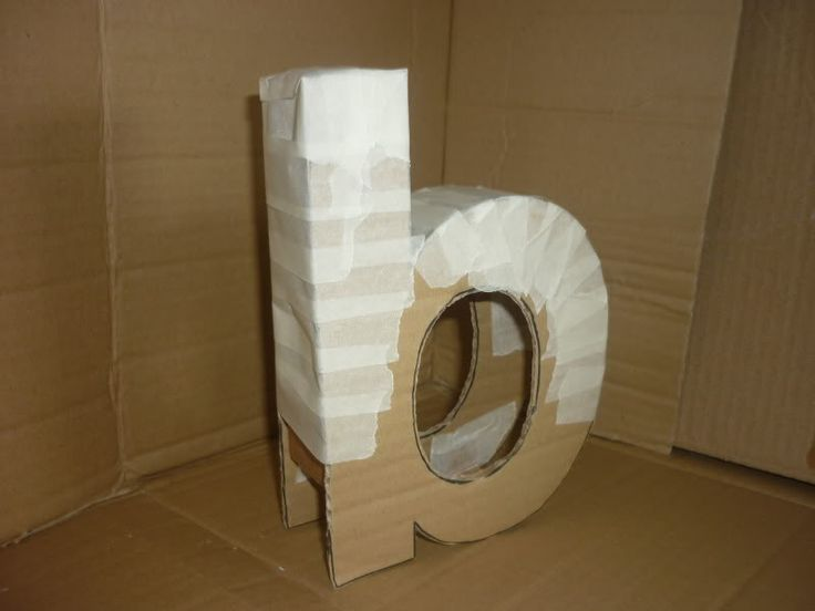 DIY 3D letters, finally a use for all of those cardboard boxes :)