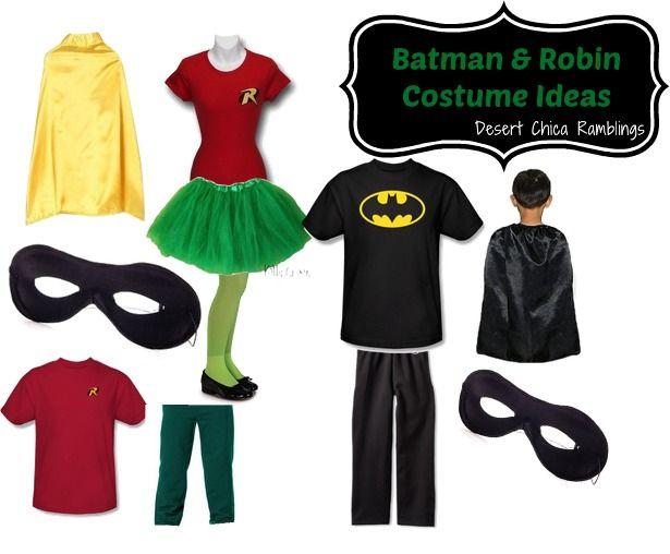 Batman and Robin Super Hero Family Costume Ideas