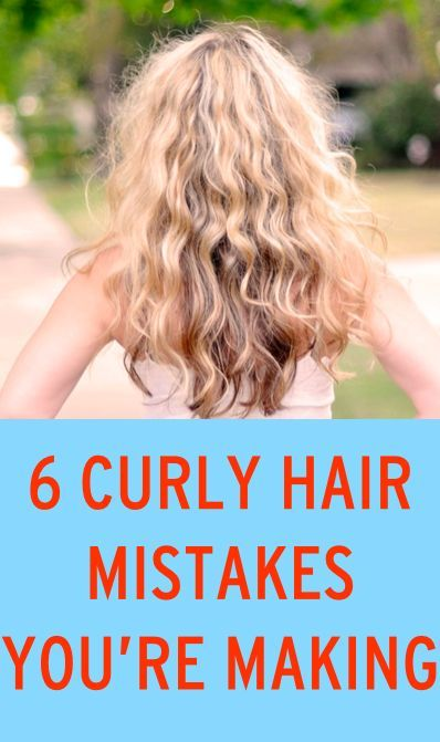 Curly hair mistakes.