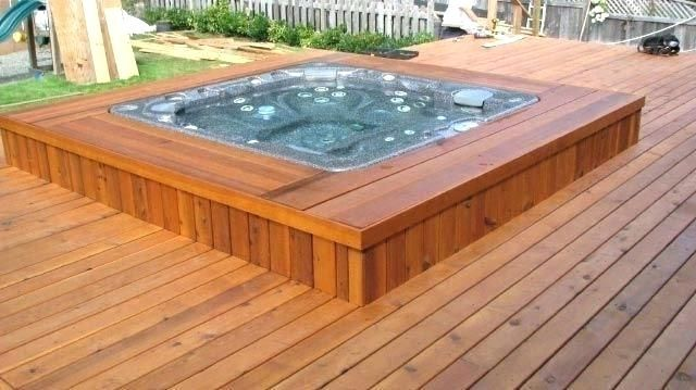 Image Result For Decked Round Hot Tubs Sunken Hot Tub Hot Tub