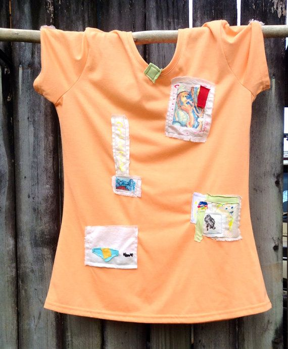 hand decorated tee top size 10 on Etsy, $39.00 AUD
