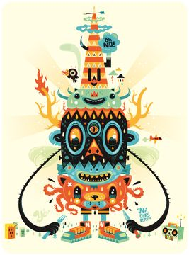 Totem Funny Funny by Niark1 | Thumbtack Press: Authentic. Affordable. Art.