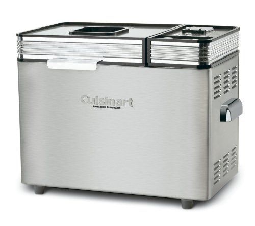 Cuisinart 680 Watt Convection 2 Pound Breadmaker 16 Preset Menu Options and Audible Tones with a 12Hour DelayStart Timer Includes Nonstick Baking Pan  Paddle BONUS Recipe Booklet * Visit the image link more details.(This is an Amazon affiliate link and I receive a commission for the sales)