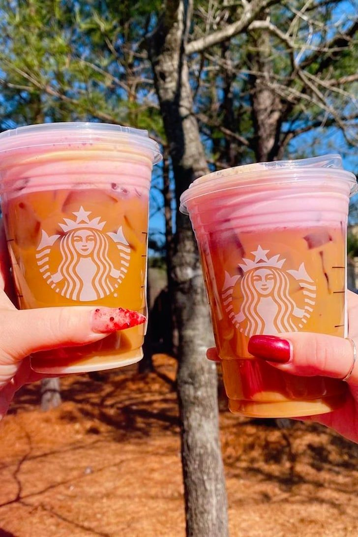 Everyones ordering pink cold foam at starbucks now here