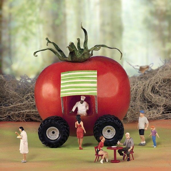 Una serie de fotos graciosas relacionadas con los alimentos. William Kass / Minimize - FOOD.