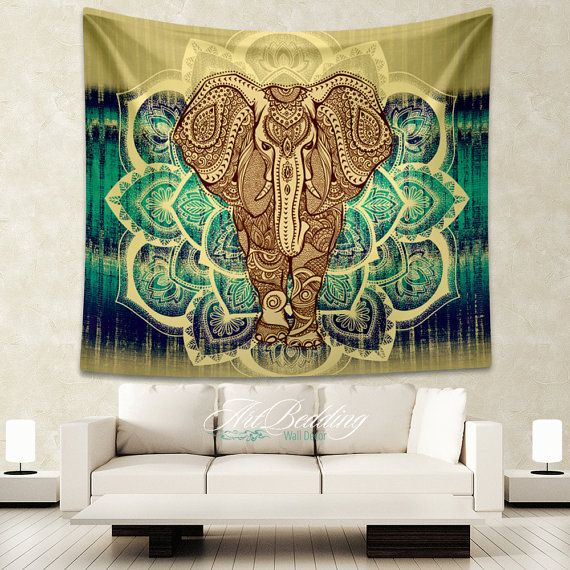 Elephant Tapestry, Mandala wall tapestry,Hippie tapestry wall hanging, bohemian wall tapestries, Boho tapestries, Ethnic bohemian decor