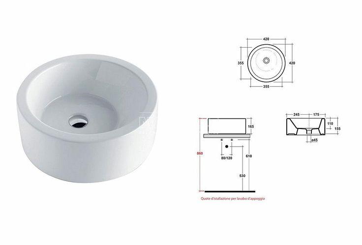 Olympia Bacinello umywalka nablatowa 42cm TRTO011 - Umywalki - wyposażenie wnętrz Max-Fliz
