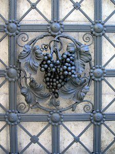 Image detail for -wrought iron wine decoration: wrought iron wine decoration