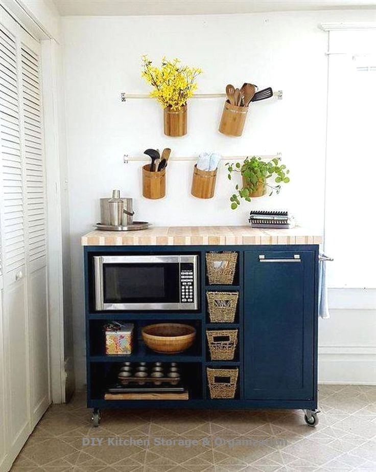 15 Great Storage Ideas For The Kitchen Anyone Can Do Small Apartment Kitchen Decor Apartment Kitchen Organization Kitchen Decor Apartment