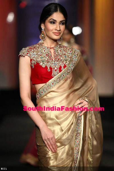 saree_blouse_red