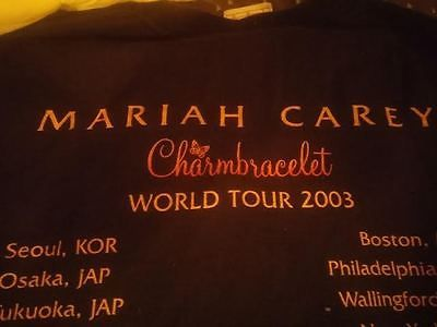 Mariah Carey Rare vintage shirt World Tour Charmbracelet 2003 (only one on eBay)
