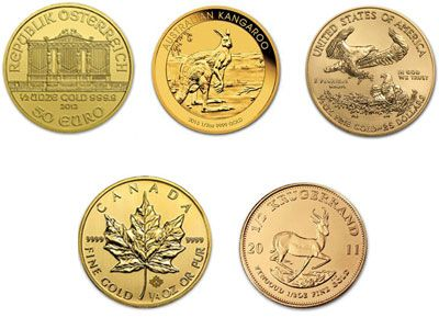 1/2 Ounce Gold Coin, 999.9 fine, Brand and Year of our Choice