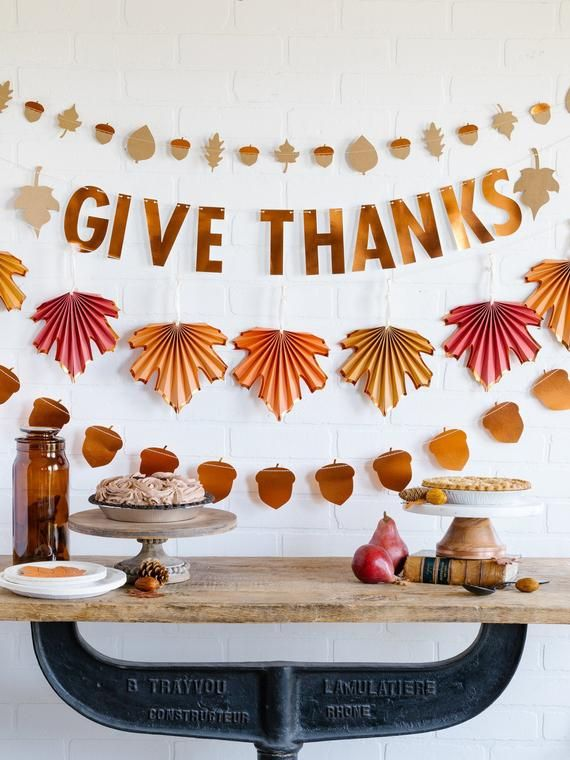 Give Thanks Fall Harvest Banner