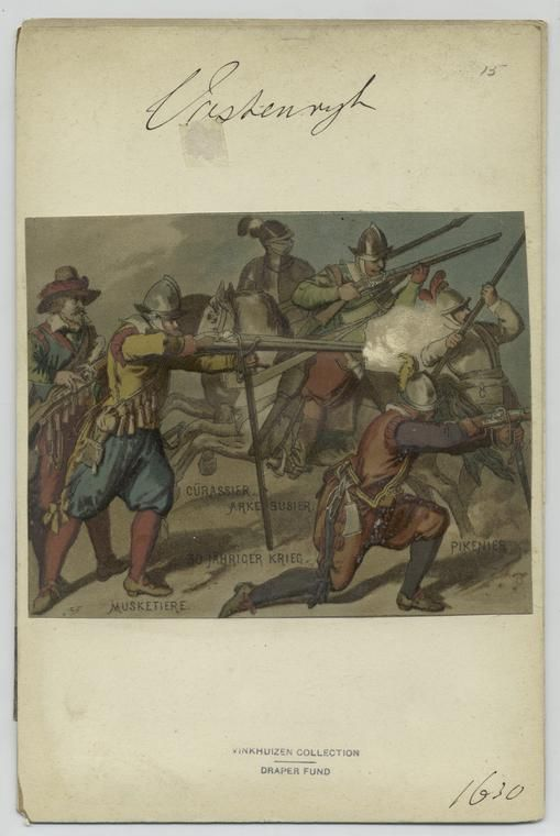 30 Jähriger Krieg. Musketiere, Arkebusier, Cürassier, Pikenier. 1630  Index
