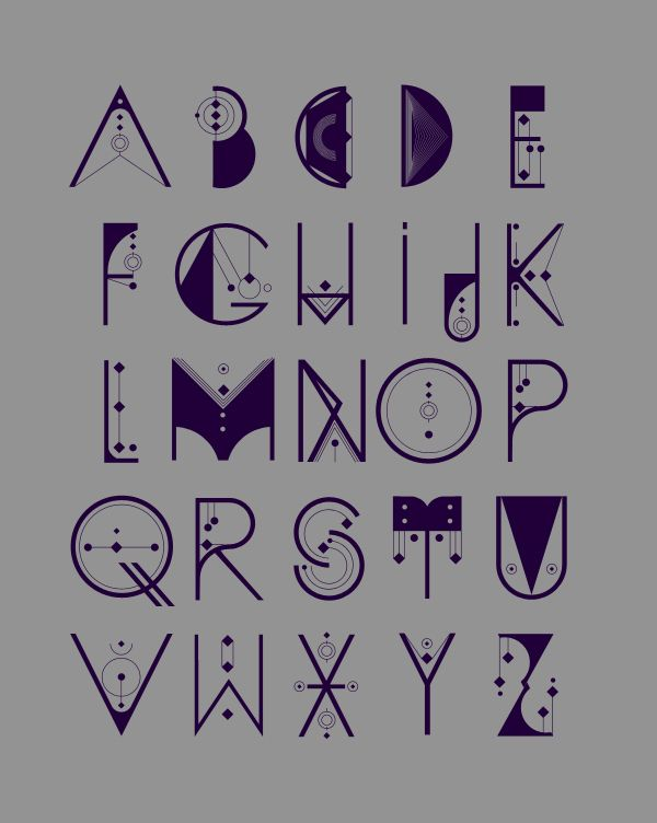 Awesome font design for the scientist in all of us: ALQUIMIA TYPE on Behance
