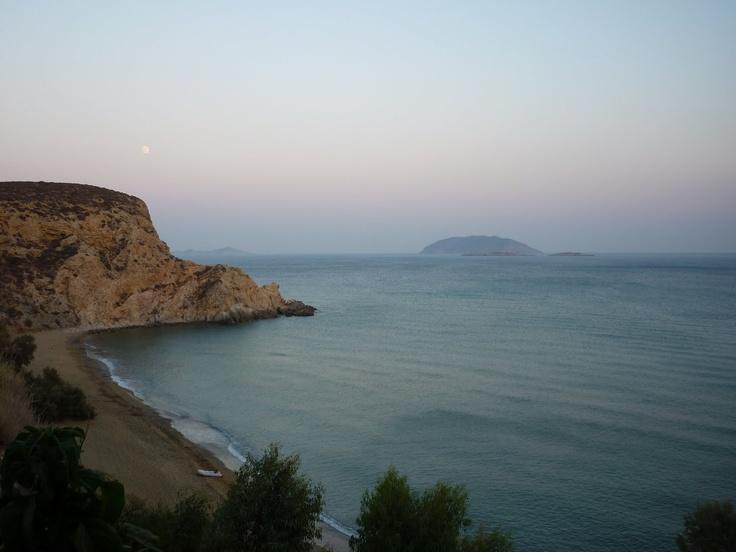 twilight at Anafi island, Cyclades, Greece
