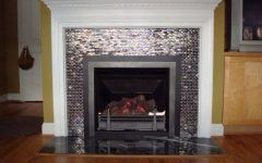 Amazing Glass Tile Fireplace Gallery